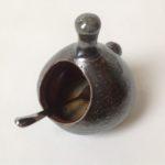 Salt Glaze Sepia Salt Pot