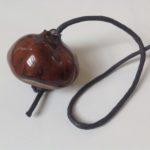 Ceramic Horse Chestnut Light Pull