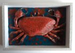 Crab Mixed Media Art