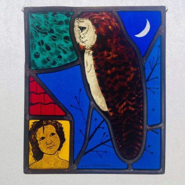 Stained Glass Owl panel