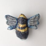 Papier-Mâché Bee Brooch