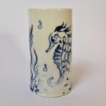Porcelain Beaker Sea Horse
