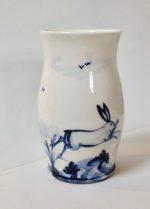 Porcelain Vase Hares