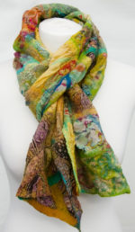 Nuno Felted Scarf  Luscious Limes