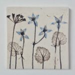 Blue Botanical Ceramic Tile