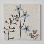 Blue Botanical Ceramic Tile