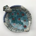 Ceramic Sculpture Dishy Lady Floating Happily
