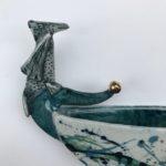 Ceramic Sculpture Bird Boat