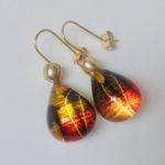 Acrylic Gem-Drop Earrings