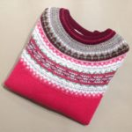Lambswool Eribe Alpine Sweater in Grenadine