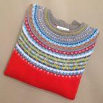 Lambswool Eribe Alpine Sweater in Scarlet