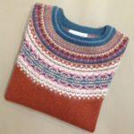 Lambswool Eribe Alpine Sweater in Russet