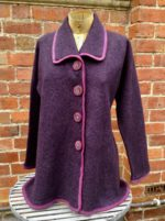 Felted Merino Wool A-Line Collared Jacket
