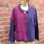 Cardigan 'Aretha' in Gentian and Cerise