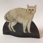 Standing Cat in Raku
