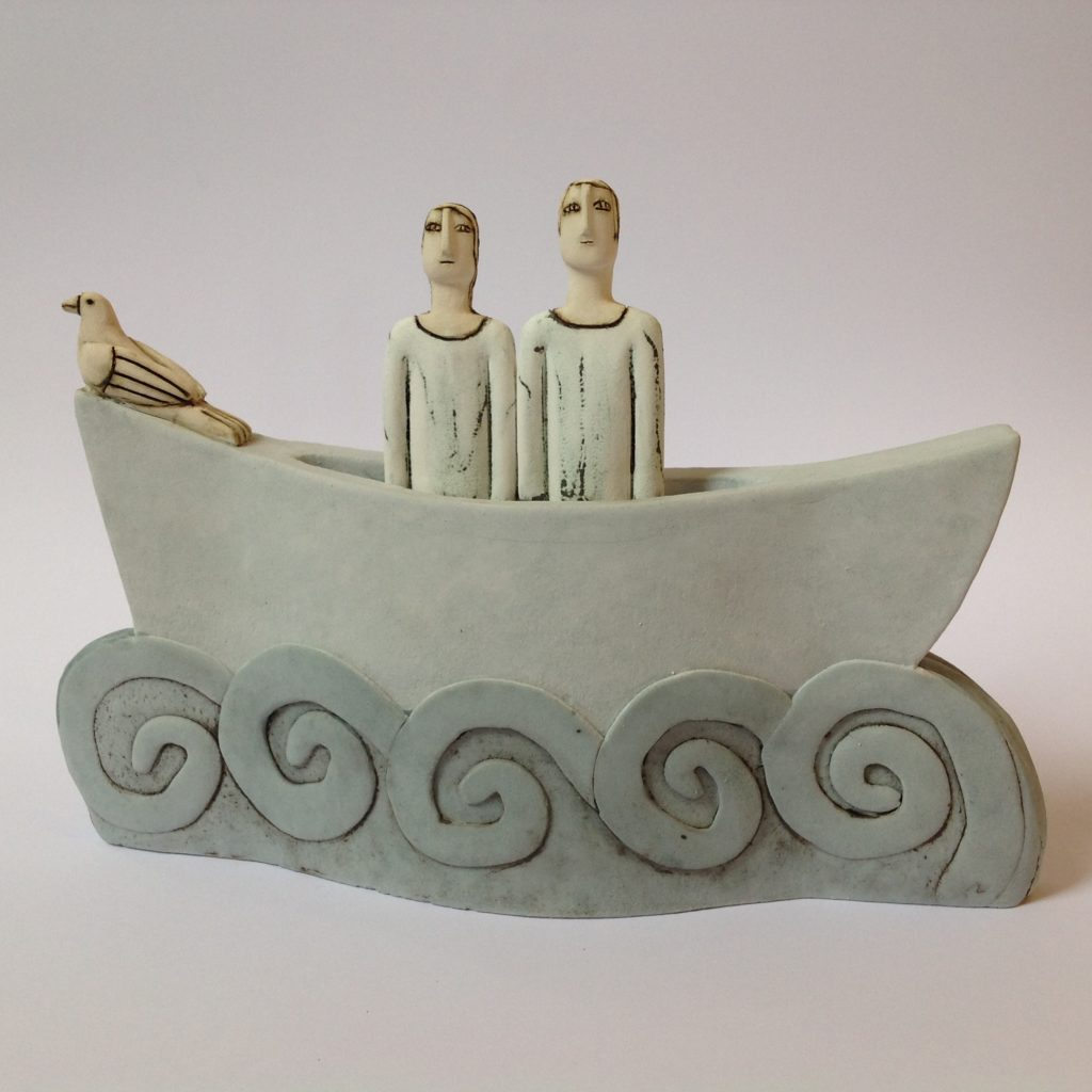Couple & Bird in Boat