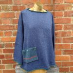'Calypso' Tunic Sweater in Bluebell