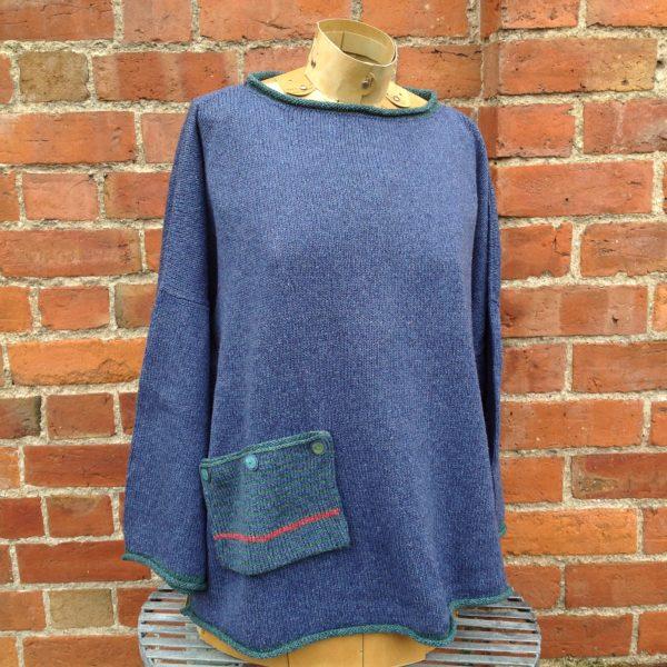 'Calypso' Tunic Sweater inBluebell