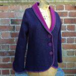 Felted Merino Wool Two Tone Jacket
