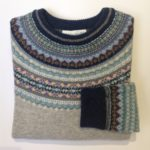 Lambswool Eribe Alpine Sweater in Arctic