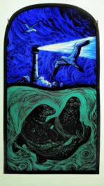 Stained Glass Panel 'Safe below the Waves'