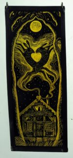 Stained Glass Panel 'Love Nest'