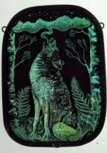 Stained Glass Panel 'Call of the Wild'