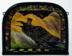 Stained Glass Panel 'Raven King'