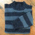 Pure Wool Unisex Stripy Sweater Blues