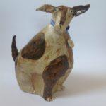 Ceramic Sitting Quirky Dog