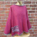 Calypso Tunic sweater in Old Rose