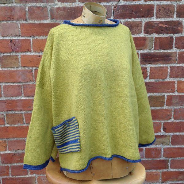 Calypso Tunic sweater in Sap