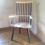 Ash & Pickled Oak Arts & Crafts Chair