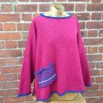 Calypso Tunic sweater in Cerise
