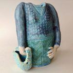 Lady with Basket Vase