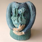 Lady with Flowers Vase
