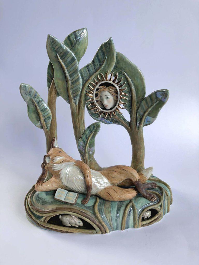 'Sun Beam' Ceramic Sculpture