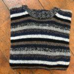 Pure Wool Unisex Stripy Sweater