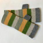 Striped Felted Gloves 'Lichens'