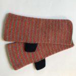 Striped Felted Gloves 'Orange'