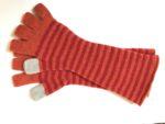 Striped Felted Fingerless Gloves