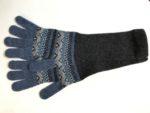 Lambswool Long Gloves in Umbra