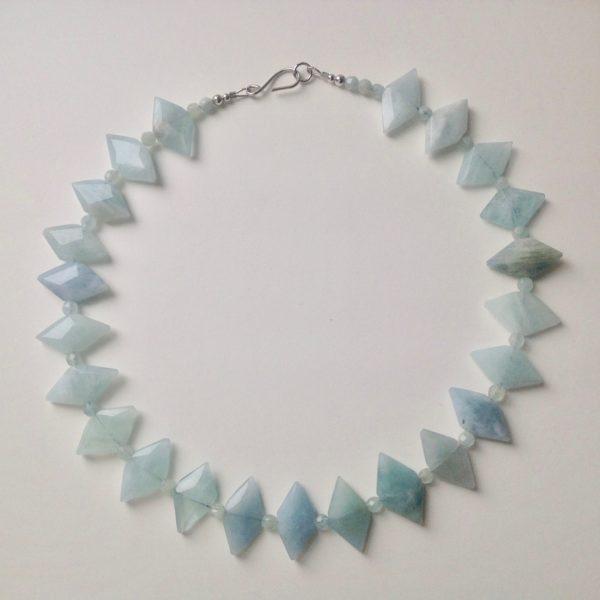 Aquamarine 'Diamonds' Necklace