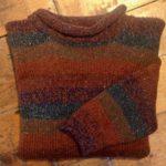 Pure Wool Striped Sweater Autumn