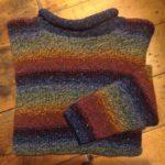 Pure Wool Reverse Multi Stripe Sweater