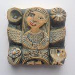 Ceramic Relief Angel Standing