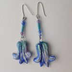 Papier-Mâché Bluebells Earrings