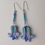 Papier-Mâché Bluebells Earrings