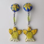 Papier-Mâché Daffodil Clip Earrings