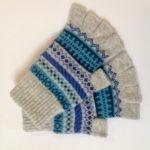 Lambswool Fingerless Gloves in Seashore